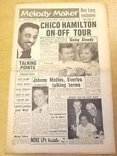 MELODY MAKER 1958 JUNE 28 CHICO HAMILTON ELVIS PRESLEY JAZZ BIG BAND SWING