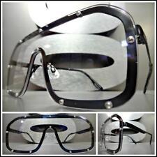 OVERSIZED VINTAGE RETRO Style Clear Lens EYE GLASSES Fashion Trendsetter Frames
