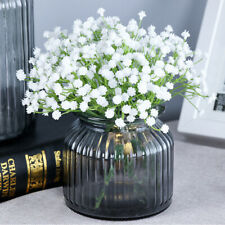 White Artificial Flowers Fake Gypsophila DIY Floral Bouquets Wedding Home Decor_