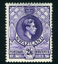 SWAZILAND-1938-54 2/6  Bright Violet Perf 13½ x 13 Sg 36 LIGHTLY  MOUNTED MINT