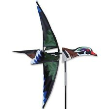 "23"" WOOD DUCK Wind Spinner Garden Stake by Premier Kites & Designs #25145"