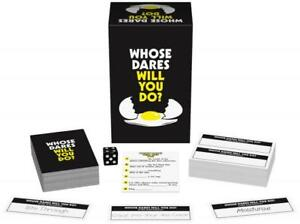 Whose Dares Will You Do? Adult Party Game Birthday Gift Gag Fun Outrageous Humor