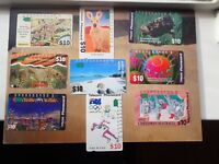 Australian $10 Telecom Phone Cards Olympics, Christmas, Endangered Species (L3)