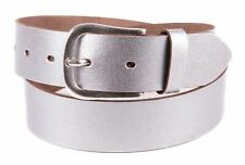 Tamaris Leather Belt W95 Gürtel Accessoire Silver Silber Neu