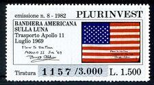 1982 - EMISSIONE PLURINVEST BOLAFFI N° 8 - Bandiera su Luna- Tir 3000  - Raro
