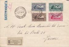 1930 Tripolitania, Virgilio Pa 4/7 The Complete Series Su Air Letter