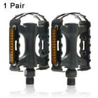 1 Pair Bicycle Pedals Reflector Non-Slip Alloy Bearing Pedal For MTB Road Bike