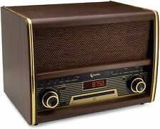 Retro FM Radio w/ CD Player, Bluetooth, & Aux-In Classic Vintage Stereo System