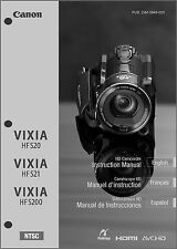 Canon VIXIA HF S20, S21,  S200 Camcorder User Instruction Guide  Manual
