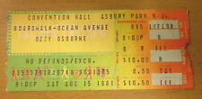 1981 OZZY OSBOURNE DEF LEPPARD ASBURY PARK NJ CONCERT TICKET WITH RANDY RHOADS