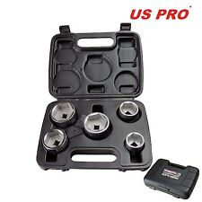 US Pro by Bergen Tools 5pc 3/8'' DR Low Profile Filter Wrench Set | Pro 3235