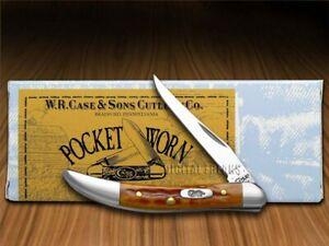 Case xx Toothpick Knife Pocket Worn Harvest Orange Bone Pocket 07400