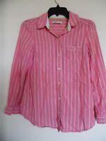 Old Navy Women's Pink Striped Button Down Top Shirt Blouse Sz XS