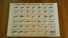 Vintage jeep dealer Poster Automobile Sign rare nos REPRINT cj cj5 cj7 cherokee