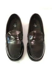 Michael James Boys Size 3.5 M Brown Faux Leather Loafers Dress Shoes