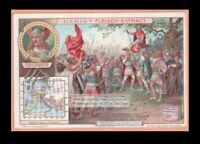 German Germanische Barbarian Odoacre Conquors Rome c1905 Trade Ad Card