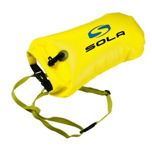 Sola 20L Inflatable Open Water Swim Buoy Dry Bag Buoy Tow Float Swimming Yellow