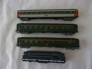 LOT TRAIN * 3 WAGONS JOUEF + 1 LOCO LIMA * RECUPERATION POUR PIECES DETACHEES