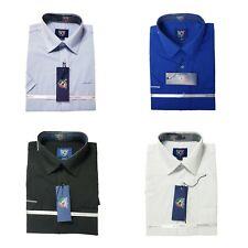 Men's Short Sleeve Cotton Blend Dress Shirt