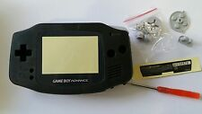 CARCASA COMPLETA+PANTALLA COMPATIBLE GAME BOY ADVANCE BLACK NEW/NUEVO