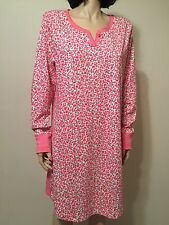 Carole Hochman Cotton Blend Night Gown Long Sleeve Size L NWT