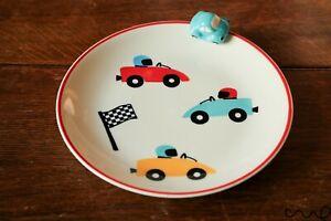 NEW 3D Turquoise Car Ceramic Plate Children Gift Birthday Vehicle Breakfast