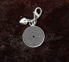 925 Sterling Silver Charm Labyrinth Greek mythology