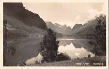 Olden Stryn Norway panoramic birds eye view of area real photo pc Z18722