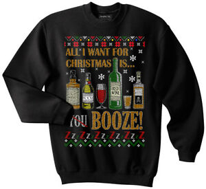 Drinks Ugly Christmas Sweater, Booze, Alcohol, Drunk, Funny, Meme, Beer, Whiskey