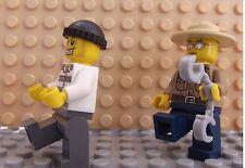 2 LEGO Brand New Mini Figures Policeman Police Shariff  Cops Robber On The Run