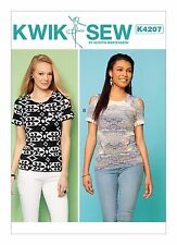 Kwik Sew SEWING PATTERN K4207 Misses Tops Inc Cold Shoulder XS-XL