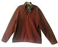 GH Bass Co 1/4 Zip Men's Sweater Jacket Pullover Fleece Long Sleeve Large L #8