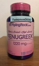 Fenugreek 1220mg 100 Capsules Breast Milk Sugar Metabolism & Wellness Support