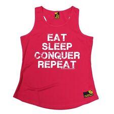 WOMENS Eat Sleep Conqure Repat SWPS Breathable bodybuilding GIRLIE TRAINING VEST