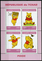 Chad 2019 CTO Winnie the Pooh Bear 4v M/S Disney Cartoons Animation Stamps