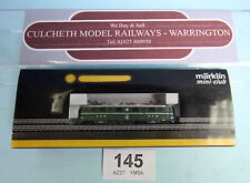 MARKLIN MINI-CLUB 'Z' AE 6/6 ELECTRIC LOCO GREEN SBB FFS *WRONG BOX*#145