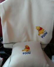 Disney Pooh pillow and blanket set