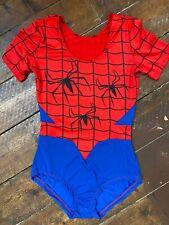 Women's spiderman costume Medium 10-12 Fancy Dress Leotard