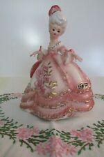 "Josef Original Figurine Victorian Lady 8"" tall w/ 5"" across skirt w/flowers"