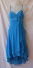 Size 8 Midi Dress Designer Alfred Angelo Formal Blue Cocktail Wedding Occasion