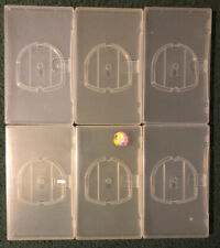 Lot Of 6 Genuine SONY PSP Clear Empty Game / Movie BOX Case With Sleeve