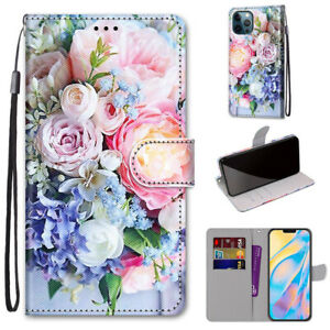 Fashion Fresh Flower Flip Hot New 3D Painted Wallet Case Cover For Various Phone