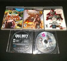 Lot Of 5 PS3 Games Uncharted 3 London Games 2012 Big Game Hunter