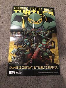 NYCC 2019 IDW TMNT Teenage Mutant Ninja Turtles 2 side Folded Poster 11x17 Swag