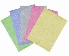10 x A4 PREMIUM GLITTER CARD ASSORTED COLOURS ARTS CRAFTS CARD MAKING PAPER NEW