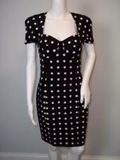 ESCADA Margaretha Ley Black & White Silk Polka Dot Dress Size 34