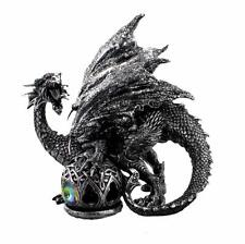 Grey Mystical Dragon Figurine On Ball New Boxed 68949