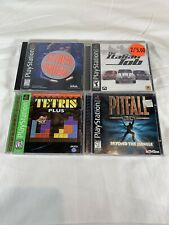 4 Game Lot Tetris Plus Extreme Pinball Italian Job Pitfall 3D - Playstation PS1