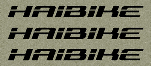 HAIBIKE Aufkleber Rad Bike MTB Sticker Decal Schriftzug - 3er Set -