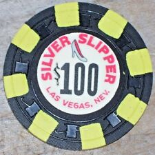 $100 VINTAGE 7TH EDT GAMING CHIP FROM THE SILVER SLIPPER CASINO LAS VEGAS